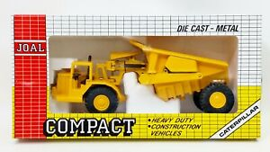 Joal Compact Caterpillar 1:70 Tractor CAT 631 With Tipper Die Cast No. 222 NIB