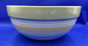"""Vintage Pampered Chef Striped Stoneware Nesting Mixing Bowl 10"""" Hostess Only"""