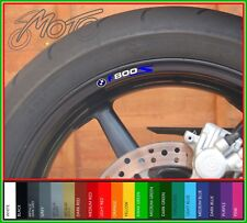 8 x BMW F800S Wheel Rim Decals Stickers - Choice of 20 Colors - f 800 s f800