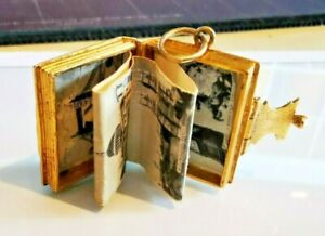 Large, London Guidebook Vintage Charm, Hallmarked 9ct gold, FREE Insured P&P #Cj