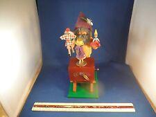 Vintage Steinbach Puppet Vendor Moving Doll Smoker(Incense Burner) Music Box