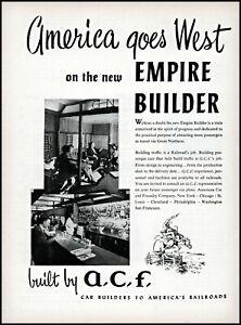 1952 A C F Empire Builder Train passenger cars vintage photo print ad ads71