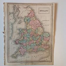 England Antique Map 1840 Edinburgh School Atlas Rare