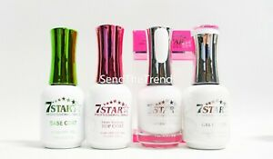 7 Star Nail - Base, Top Coat, Gel, & Lacquer Polish 01-26 Colors of your choice