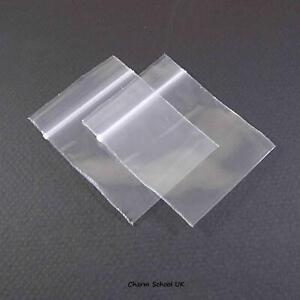 """100 RESEALABLE PLASTIC CLEAR GRIPSEAL BAGS 2"""" X 2""""  51mm X 51mm"""