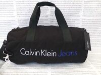 CALVIN KLEIN JEANS Barrel Bag Canvas Black Carry Bag Shoulder Duffel Bags  BNWT 6d4b945d69d8c