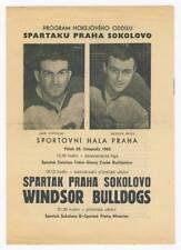 1963 SPARTAK Prague vs. WINDSOR BULLDOGS Ice Hockey PROGRAM Programme CANADA IHL