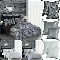 Luxury 3 Piece CLEO Paisley Jacquard Duvet/Quilt Cover Bed Set + 2 Pillow Cover