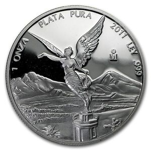 New 2011 Mexican Silver Proof Libertad 1oz Silver Coin Mint Encapsulated