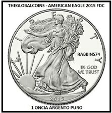 2015 AMERICAN EAGLE 1 ONCIA ARGENTO FDC UNC U.S.A. troy oz ARGENTO PURO