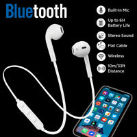 Bluetooth Headset Wireless Stereo Headphones Earphone Earbuds Mic for iPhone