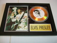 ELVIS  SIGNED  GOLD CD  DISC  123