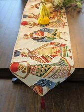 DaDa Bedding Dancing Women African Kwanzaa Woven Tapestry Dining Table Runners