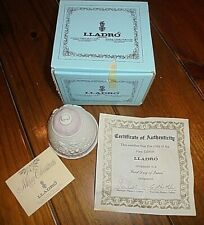 Lladro Porcelain Bell Ornament 1987 in Original Box w/Certificate Mint Condition