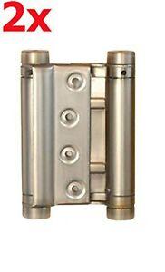 2x Stahl 100mm Satin Cover Pendeltürband Pendeltürscharnier Schwingtür