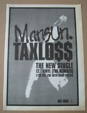 MANSUN - TAXLOSS - 1997 - MUSIC PRESS ADVERT POSTER 15 X 11 in