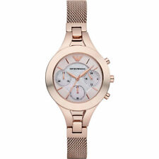 EMPORIO ARMANI Rose Gold Steel Chronograph Ladies Watch AR7391