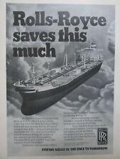 10/1981 PUB ROLLS-ROYCE RB211 BOEING 747 TRISTAR PETROLIER TANKER ORIGINAL AD