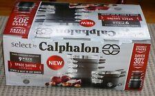 Calphalon 9 piece Cookware Set Hard-Anodized Nonstick Space Saving - NEW ~NIB !