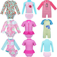 Baby Girls Swimsuit UPF 50+ Rash Guard Kids Swimwear Bathing Swimming Suit