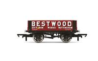 Hornby R6946 OO Gauge Bestwood, 4 Plank Wagon, No. 2017 - Era 2/3