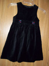 Gymboree Girls Size 3 Small Black Velvet Dress New With Tags