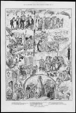 1880 Antique Print - CHRISTMAS  GAMES Young And Old  (126)