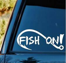 F1088 Large Fish On Bass Fishing Decal Sticker Boat Trailer Rod Reel Lure Bait