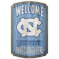 North Carolina Tar Heels Fan Cave Wood Sign