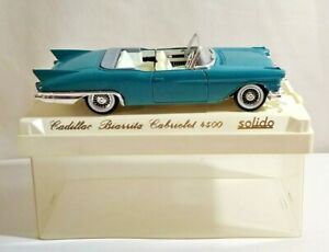 SOLIDO AGE D'OR 1:43 SCALE CADILLAC BIARRITZ CABRIOLET - BLUE - #4500 - CASED
