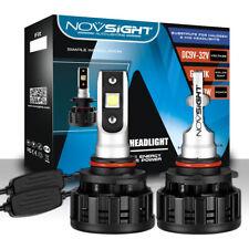 NOVSIGHT Pair 60W 16000LM 9005 Car LED Headlight Bulbs Conversion Kit 6500K