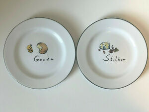 Pottery Barn Appetizer Cheese Dining Plate Set of 2 Gouda Stilton Replacement