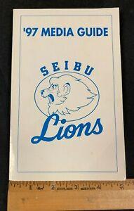 FOREIGN 1997 JAPANESE SEIBU LIONS BASEBALL TEAM MEDIA GUIDE 112320