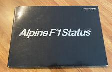 Alpine F1 Brochure MINT 7990 PXA-H900 MINT