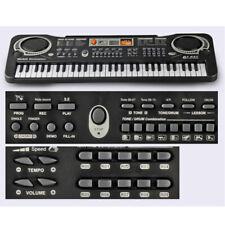 Tastiera Elettronica Musicale Pianola Pianoforte 61 Tasti Suoni Microfono USB