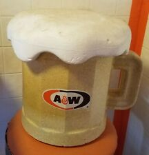 "A&W Root Beer. A rare 11� x 14� Styrofoam ""Mug� cooler."