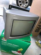 "Vtg SONY Trinitron KV-8AD11 Color 8"" TV No REMOTE Japan CRT Gaming Television"