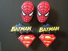 Jibbitz Croc Clog Shoe Charm 6 pcs Superman Spiderman Batmat  Fit Bracelets Belt