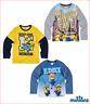 Minions Langarmshirt Jungen grau gelb blau 104 116 128 140 152 NEU