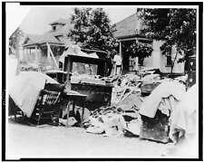 Furniture,street during race riot,eviction,Civil Rights,Tulsa,Oklahoma,OK,C1921