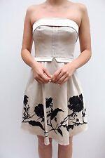 Karen Millen Strapless Floral Embroidered  Sequin Prom Evening Dress 8 36 New