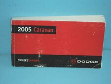 05 2005 Dodge Caravan owners manual