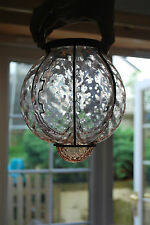 Murano GLASS VERANDA Lanterna Paralume Rose di vetro in ferro Holder #53