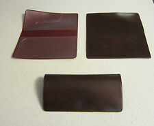 1 NEW BURGUNDY MARBLE VINYL CHECKBOOK COVER WITH DUPLICATE FLAP CHECK BOOK