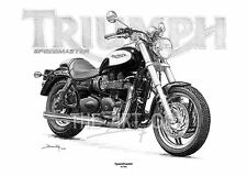 Triumph Speedmaster fine art print par Billy