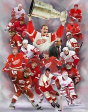Detroit Red Wing:giclee print on canvas poster painting no autograph N-689