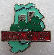 Pin's Elections régionales 22 mars 1992 Ps fleur Rose #1756