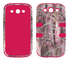 Hybrid Pnk Pink Camo Grass 3 in 1 Samsung Galaxy S3 , III ,  i9300 Cover Case