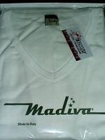 MAGLIA MADIVA taglia 6/XL art.802 corpo scollo a V colore bianco FILO DI SCOZIA