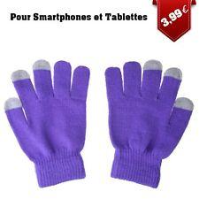 Gants pour Ecrans Tactiles tricotés Violet
